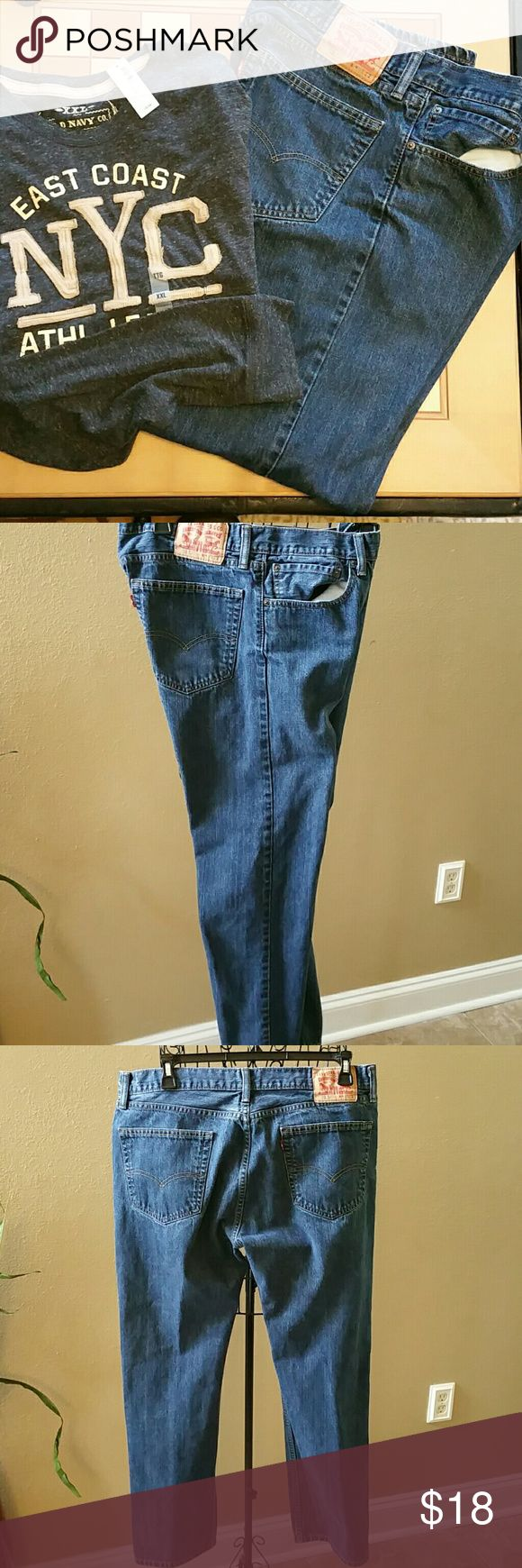 Levis 505 size 36/32 Five pocket 505 levis, straight leg button fly  jeans, size 36/32, great condition. Levi's Jeans Straight