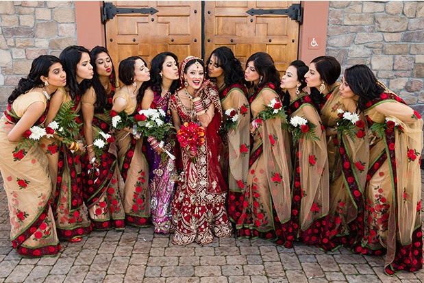 """cute picture with the bridesmaids! for more wedding ideas, follow my """"Put a ring on it, baby"""" board!"""