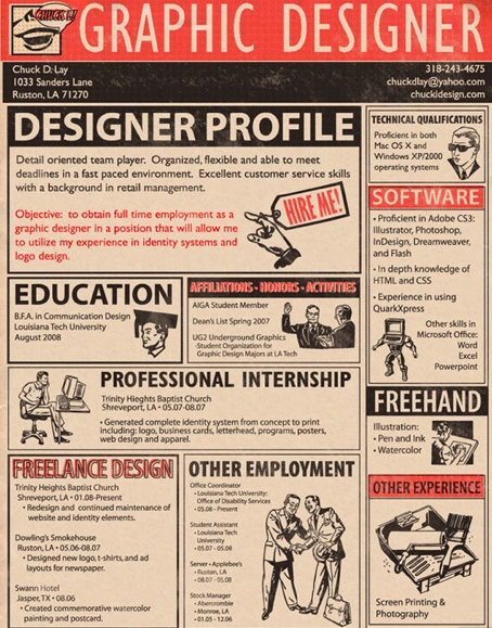 81 best Graphic Design Creative Resume images on Pinterest - graphic resume examples