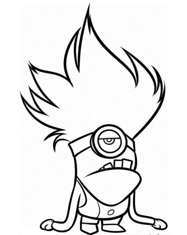 Download And Print Evil Minion Despicable Me 2 Coloring Pages