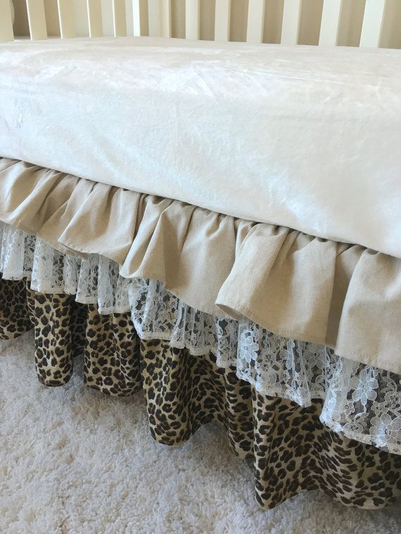 White Crib Bed Skirt With Tassels