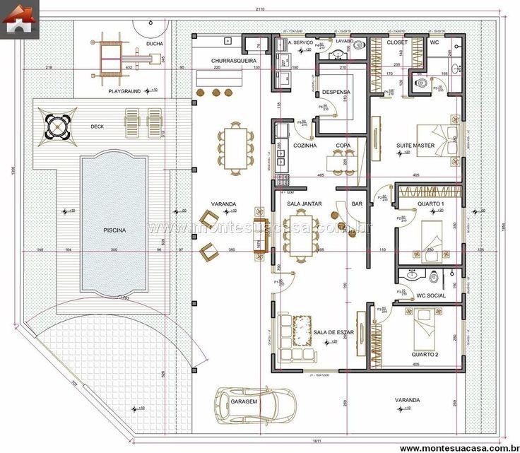 Les 294 meilleures images à propos de Retiro sur Pinterest Façades - Plan Maison En Longueur