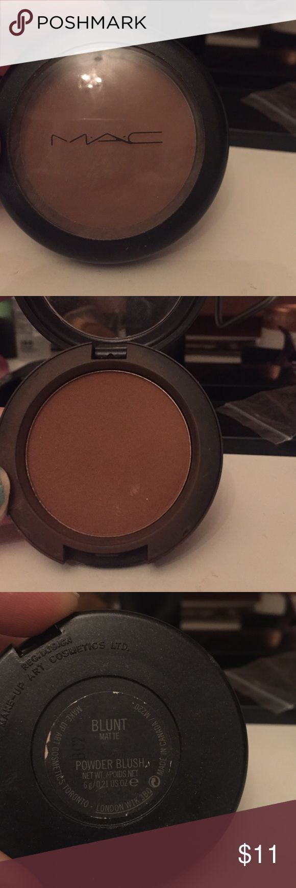 MAC Bronzer Matte Bronzer from MAC in color Blunt. I've only used it maybe 3 times still plenty in there. MAC Cosmetics Makeup Bronzer