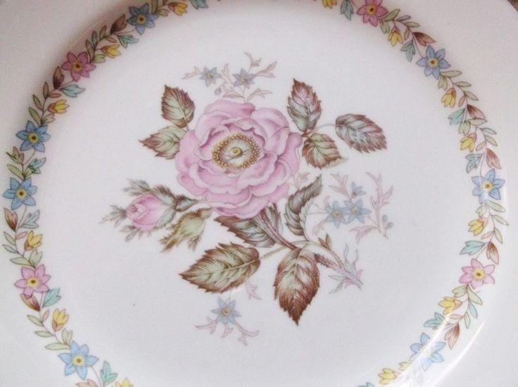 """Vintage Homer Laughlin Eggshell Georgian Dessert Plate 6.25""""Pink Rose Gold E47N5 #HomerLaughlin"""