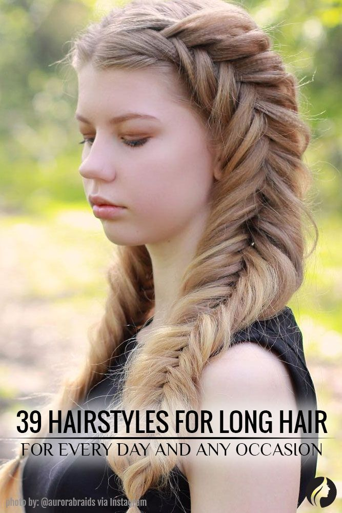 What's great about long hair is that it is so versatile that you can do any new cute hairstyles for long hair each day. We've collected the 39 cute hairstyles for long hair with braids and fishtails, updo and down styles, half-up and half-down. ★ See more: http://glaminati.com/awesome-cute-hairstyles-for-long-hair-everyday/?utm_source=Pinterest&utm_medium=Social&utm_campaign=FI-awesome-cute-hairstyles-for-long-hair-everyday-32