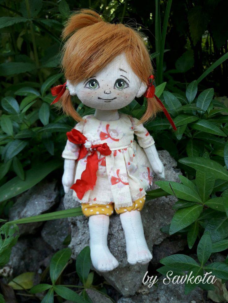 Little doll, Textile doll, decorative doll,collectible dolls, doll cotton, rag doll, art doll by Savkota on Etsy