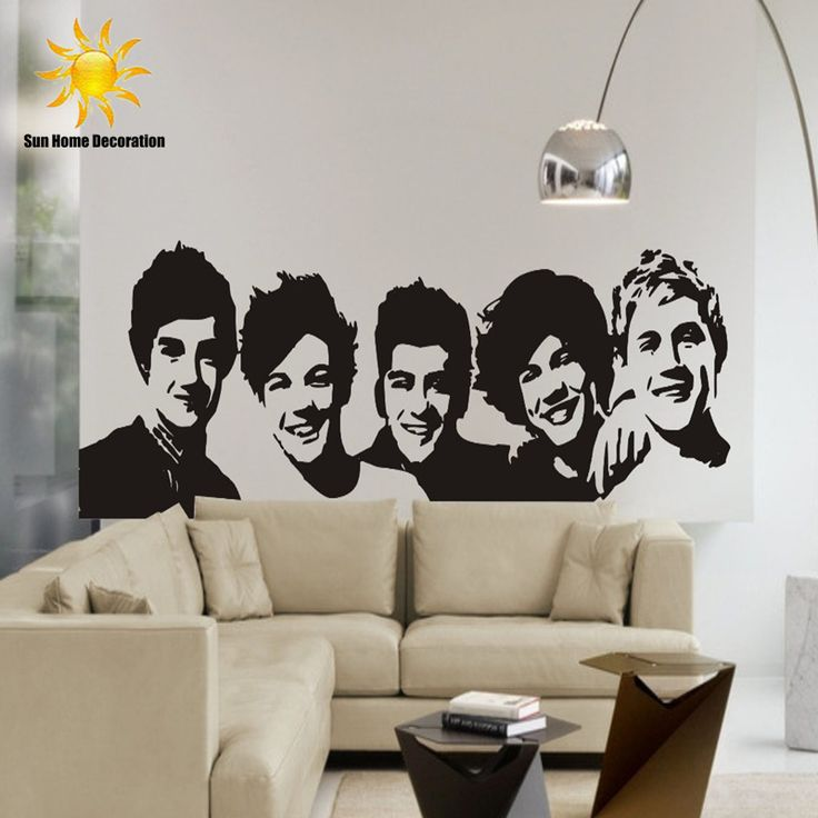 DIY black Wall Sticker One Direction Poster girls Bedroom Home Decoration Pictures Removable Wall Art wallpaper vinyl decals #Affiliate
