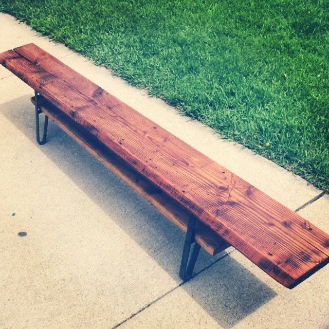 Bench made from reclaimed Douglas Fir, beveled and stained with tongue oil.  Legs were. Douglas FirFirsWood CraftsWisconsinBenches - 16 Best Images About My Reclaimed Wood Crafts On Pinterest