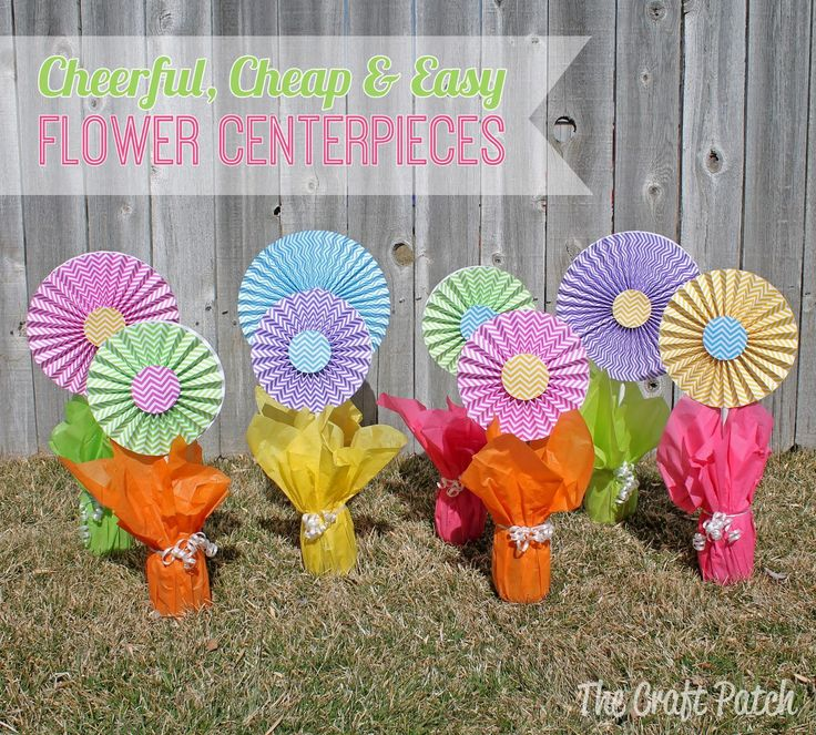 DIY Tutorial DIY Paper Crafts / DIY, Cheap and Easy Flower Centerpieces - Bead&Cord