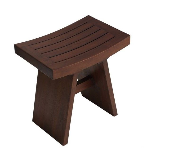 Bathroom Shower Stool Sauna Small Seat Teak Stools Counter RV Solid Wood GIFT #BareDecor