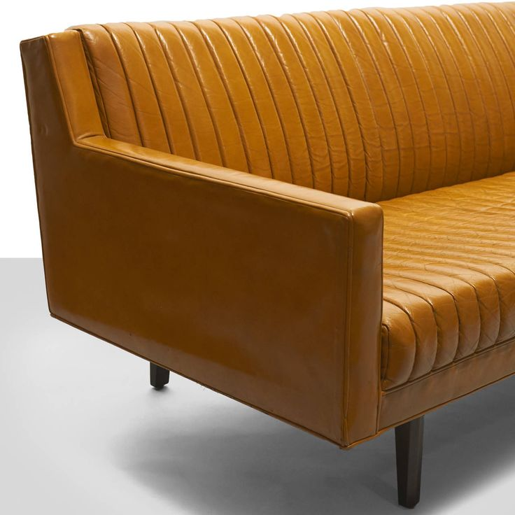 Edward Wormley Channel-Back Sofa   From a unique collection of antique and modern sofas at https://www.1stdibs.com/furniture/seating/sofas/