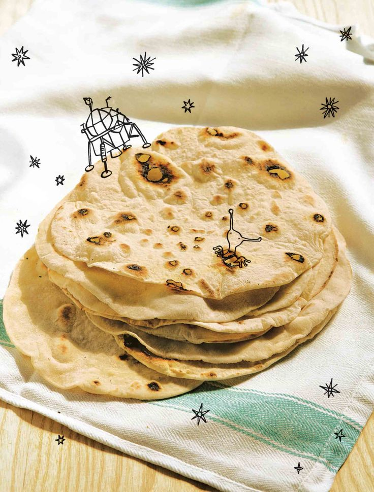 Flatbreads recipe from River Cottage Every Day by Hugh Fearnley-Whittingstall | Cooked