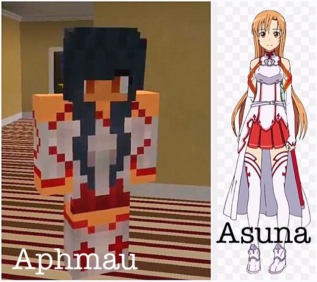 Aphmau from MyStreet and Asuna from Sword Art Online