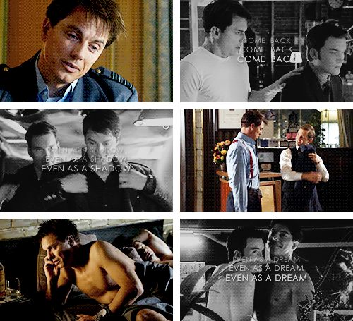 Jack Harkness + Ianto Jones: Come back even as a shadow, even as a dream. #torchwood