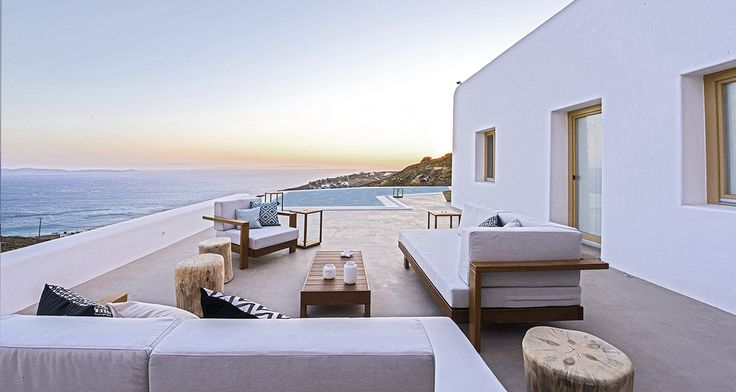 Luxury villa Mykonos island dream exterior amazing view