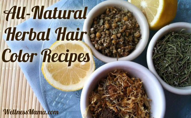 Natural Hair Color Recipes - My favorite natural herbal hair color recipes for naturally creating light, dark or red tones in all types of hair without using chemicals.