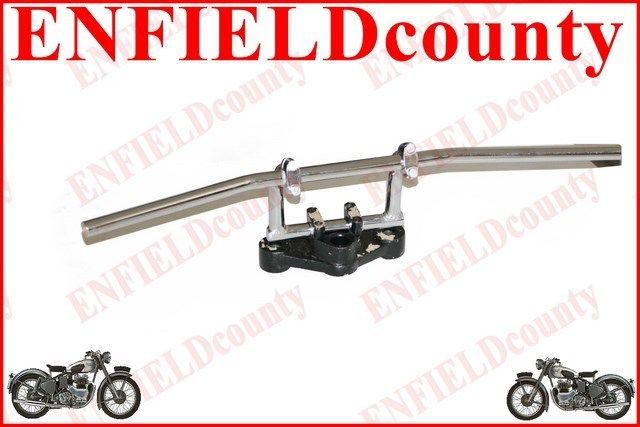 """NEW UNIVERSAL FIT 7/8"""" CHROME PLATED STRAIGHT HIGH RISE HANDLEBAR MOTORCYCLE"""