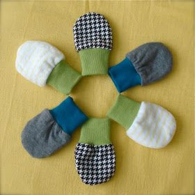 Hello!       I have another tutorial for you today!      There are lots of tutorials for baby mittens around the internet, but I haven't ac...