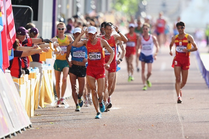 Jared Tallent wins the Silver Medal in the men's 50 kilometre walk. #London2012 #olympics