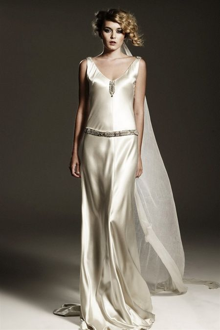 Art Deco Wedding Gown by Johanna Johnson