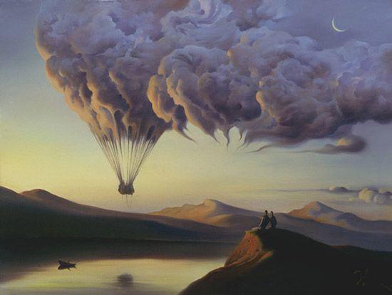 :-): Vladimir Who, Clouds, Surrealism Art, Hotair, Vladimirkush, The Artists, Salvador Dali, Hot Air Balloons, Visionary Art