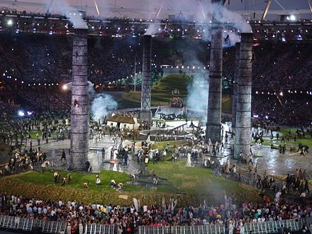 Opening ceremony of the 2012 Summer Olympics in London