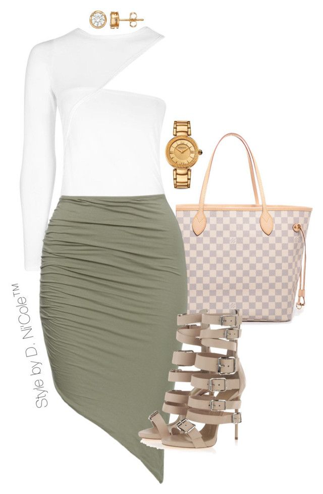 """""""Untitled #3281"""" by stylebydnicole ❤ liked on Polyvore featuring Louis Vuitton, Giuseppe Zanotti and Versace"""