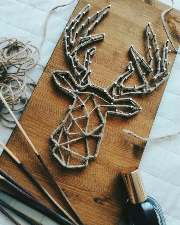 String art Олень – купить в Краснодаре, цена 700 руб., дата размещения: 24.07.2017 – Хэндмейд