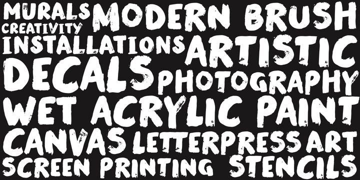 Modern Brush - Webfont & Desktop font « MyFonts