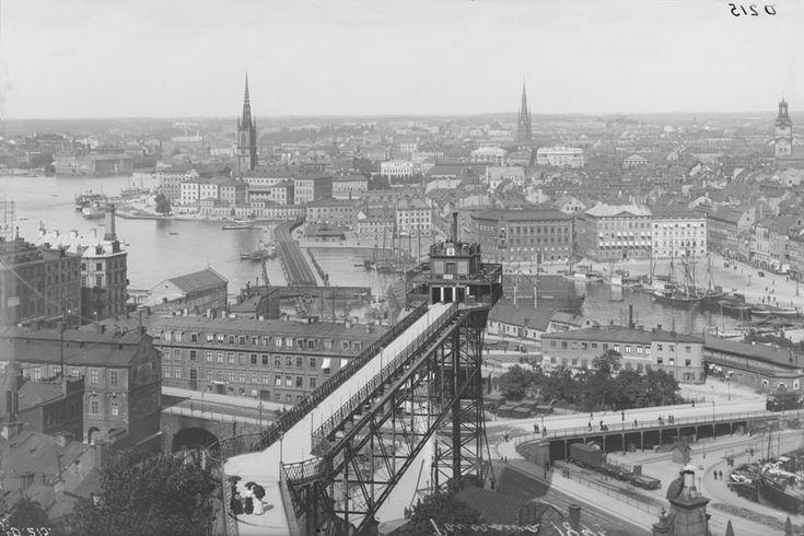 Utsikt från Mosebacke 1895
