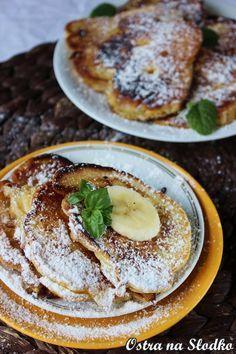racuchy budyniowe , budyniowe pancakes , racuszki z bananem , bananowe racuchy , placuszki bananowe , pyszny obiad , slodki obiad , ostra na slodko , tani obiad xxx