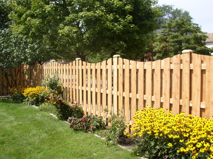 Ideas For Garden Fences Style Wood Fence Style  For The Outside  Pinterest  Privacy Fences .