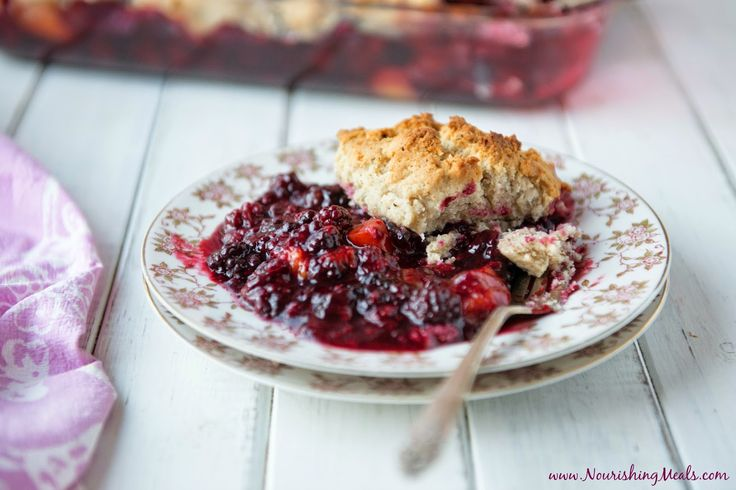 I love a good cobbler, especially in the summer when our kitchen is brimming with fresh fruit! I created this gluten-free cobbler recipe a...