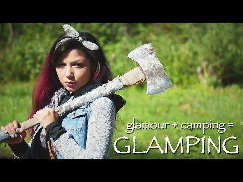 GLAMPING (Glamour + Camping) Makeup! - YouTube
