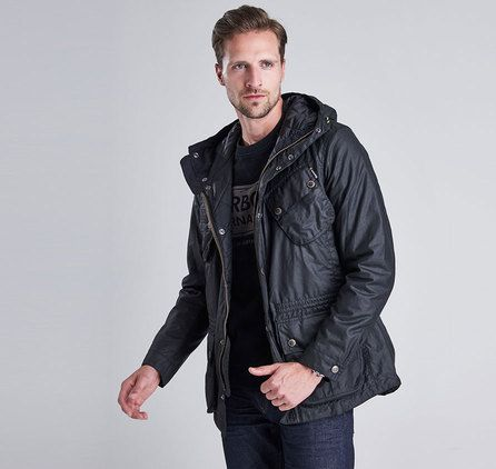 Barbour B.INTL FOG PARKA WAX Jacka – Svart. Barbour Jacka Herr Online, Barbour Outlet Online, Barbour Clearance Sale