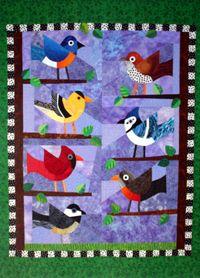 17 best Spring Bird Quilts images on Pinterest | Quilt patterns ... : bird quilt - Adamdwight.com
