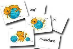Bildkarten zur Sprachförderung Präpositionen