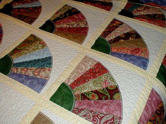 1000 images about fan quilts on pinterest quilt for Bed quilting designs