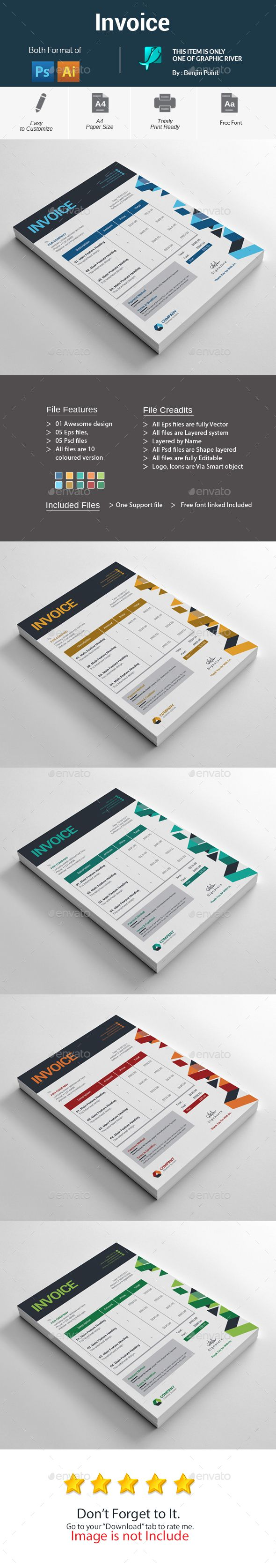 #Invoice - #Stationery Print Templates Download here:  https://graphicriver.net/item/invoice/20234823?ref=alena994