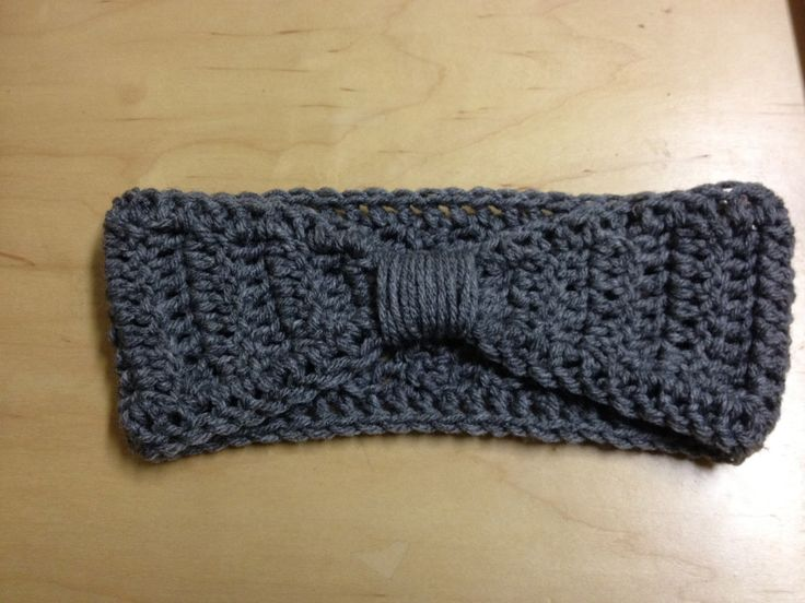I actually made this by accident. I was trying out a different pattern to make a normal headband, but the back turned out really narrow. S...