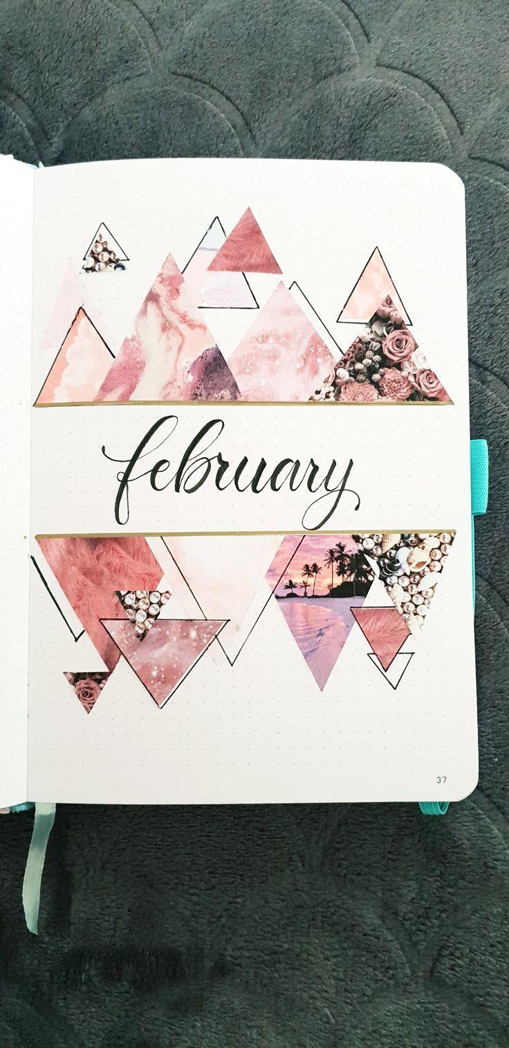 Februar monatliches Deckblatt Bullet Journal – #Bullet #Deckblatt #Februar #journal #monatliches