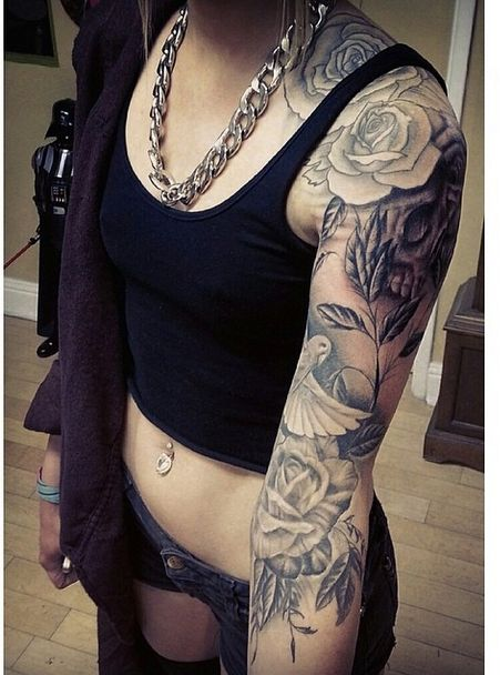 Josephine nicole from tumblr. She has the most gorgeous half sleeve I've ever seen.