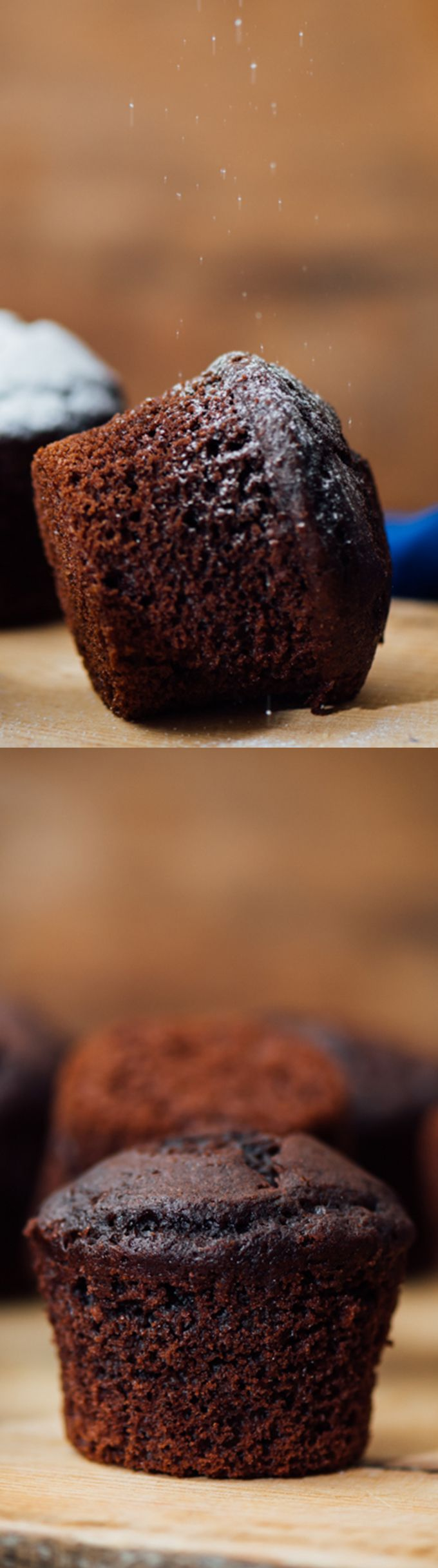 Buttermilk Chocolate Muffins are perfectly moist inside and you will feel like you're eating brownies in each bite.