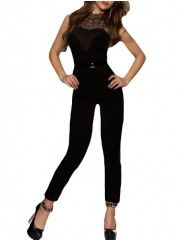 Lace Patchwork Fascinating Sleeveless Jumpsuits