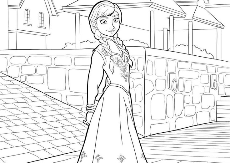 Disney Frozen Coloring Pages For Kids Free Printable