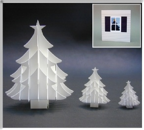 I love making these 3D trees and sending them as ornaments within the Christmas cards.