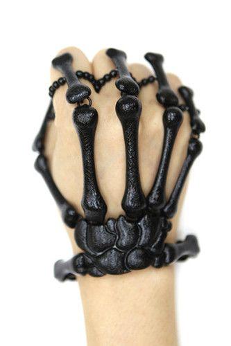 Skeleton Hand Ring Bracelet