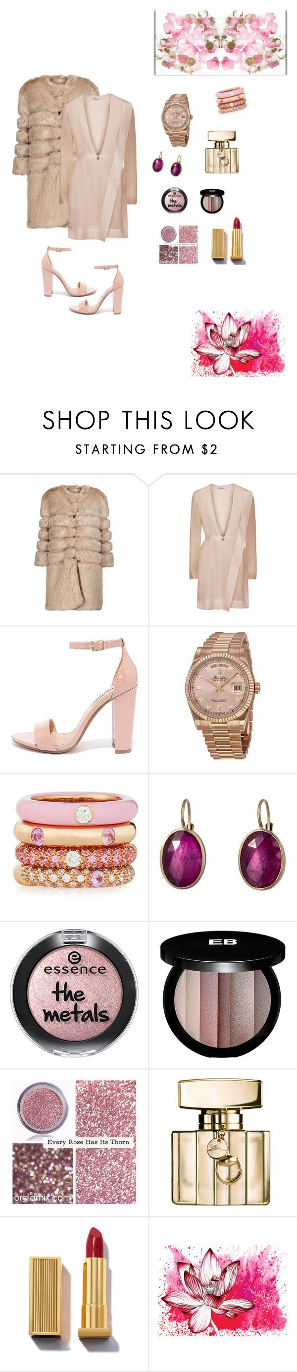 """#winterwedding"" by joe-khulan on Polyvore featuring AINEA, Steve Madden, Rolex, Adolfo Courrier, Anaconda, Edward Bess, Gucci, Karuna and Oliver Gal Artist Co."