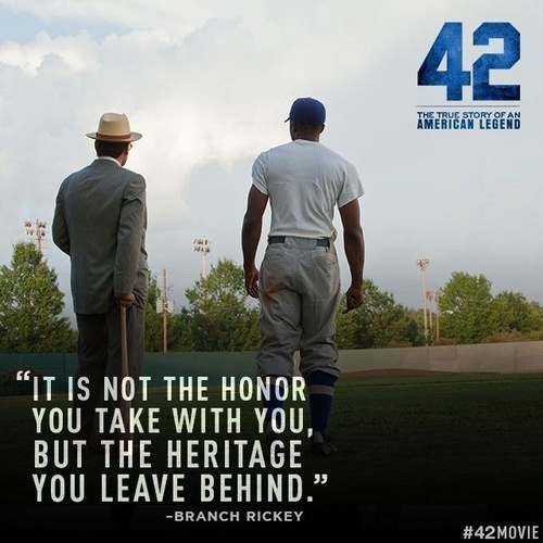 I really like Jackie Robinson because he inspired a lot of people and changed the game of baseball forever.