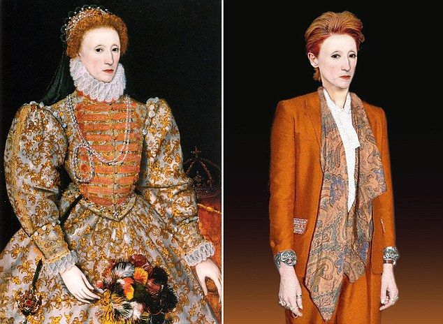 How would our favorite historical figures dress today? History TV seems to think Queen Elizabeth would look like Tilda Swinton... http://www.dailymail.co.uk/news/article-2317992/Queen-Elizabeth-Botox-Marie-Antoinettes-fake-boobs-Henry-VIIIs-hair-transplant-How-look-today-.html